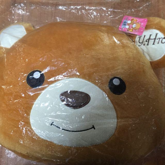 全新熊熊頭枕