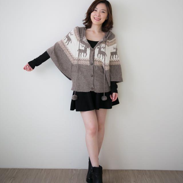蝙蝠袖麋鹿毛衣