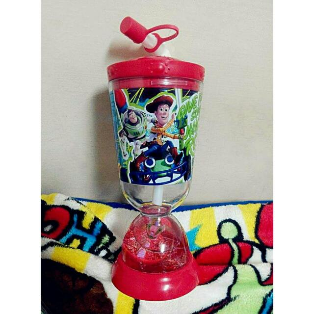 (全新)迪士尼💫-玩具總動員吸管水壺💛