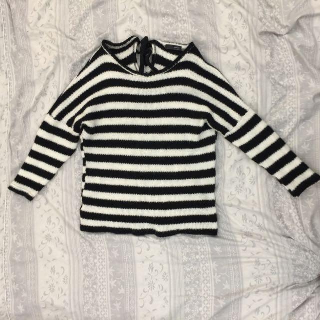正韓 條紋毛衣