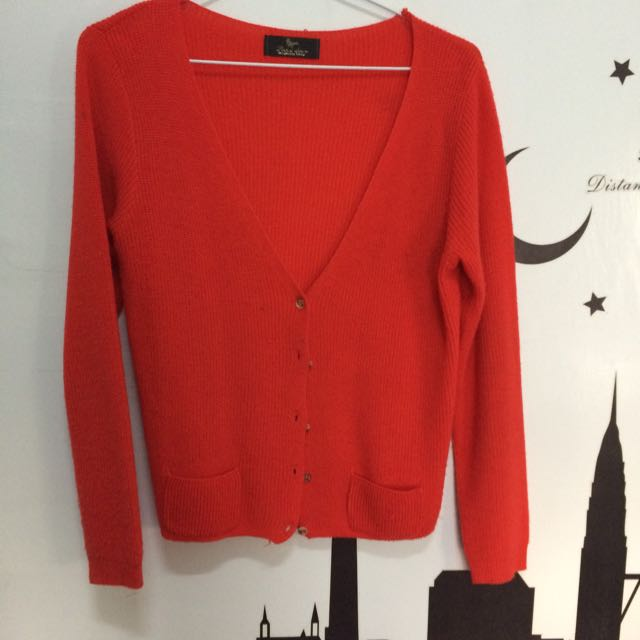 紅色 鴿子牌 針織小外套