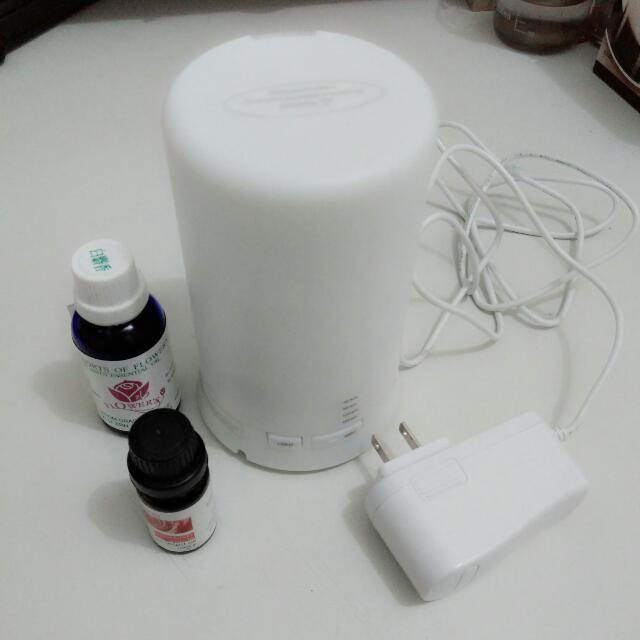 (暫留)美國進口 水氧機 加濕器 附兩瓶精油 空氣乾 類無印良品