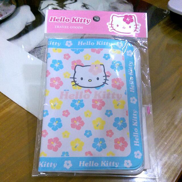 (全新) 日本限定 Hello Kitty 扶桑花 護照套