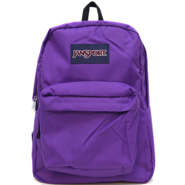 the latest 69d22 1b2af Authentic Purple Jansport Backpack, Women s Fashion on Carousell