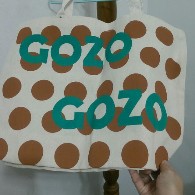 【全新未拆含運】gozo米白麻棉材質購物袋