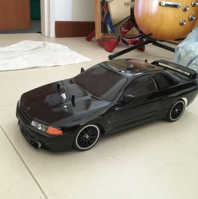 Initial D Nissan GTR TT01 Drift Rc car tamiya 1/10, Toys & Games ...