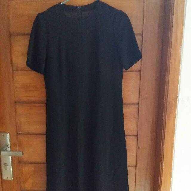 Prwloved Black Dress Atas Motif
