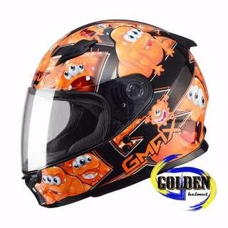 【GD佳德】全罩式安全帽 SOL 49Y 精靈 黑橘 小帽體