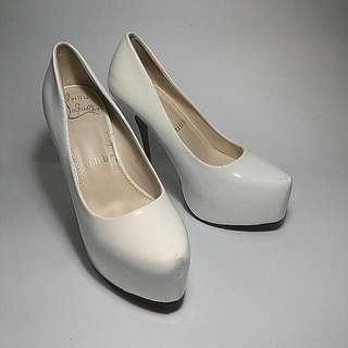 39號 超高白跟 工作鞋