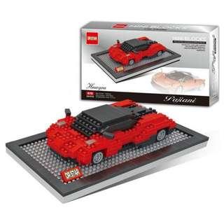 DR STAR鑽石積木《超跑系列》義大利超跑 帕加尼 Pagani、藍寶堅尼 Lamborghini