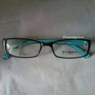 Frame Kacamata Cardin C3327 Black Turquoise Original
