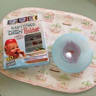 Baby Diner Dish Holder 幼兒用餐強力吸盤 QQmei推薦 二手 含運
