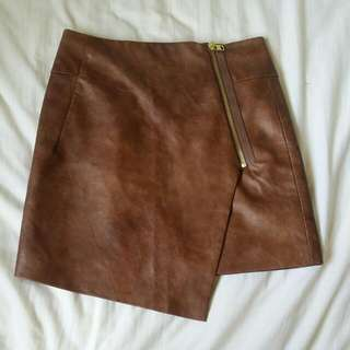 H&M - Brown leather skirt