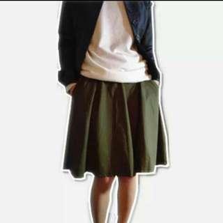正韓軍綠裙