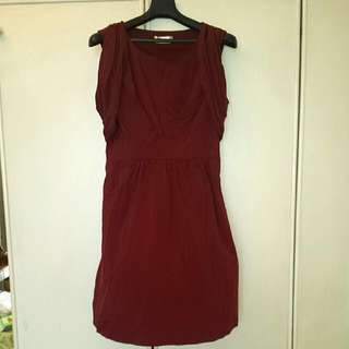Price Lowered - Oh Vola Dress In Maroon/Purple With Zip
