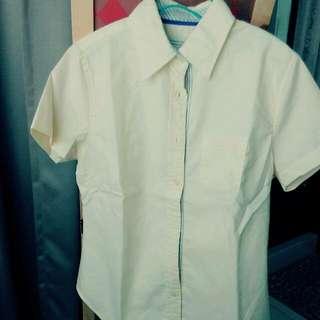 下殺⚡全新。NET淺黃色短袖襯衫6號