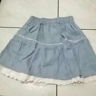 Semi Jeans Flare Skirt