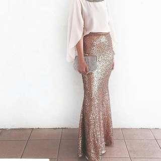 (RESERVED) Pink Sequid Mermaid Ariel Dress From Inlovebytns
