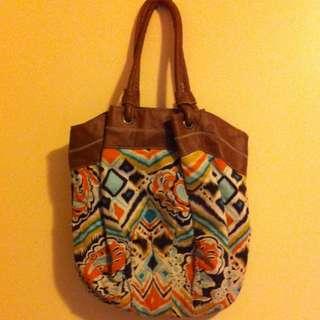 Bluebird printed handbag