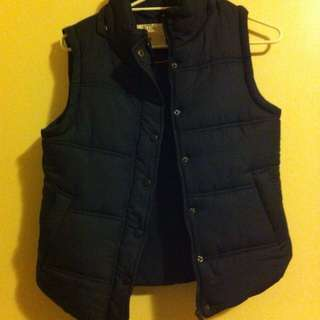 Cotton On Active puffer vest with detatchable hood, Size M