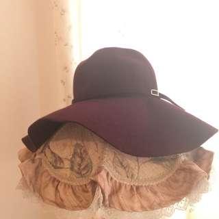日本品牌 Supreme La La 100% 毛帽
