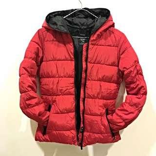 Zara 全新品 紅黑雙色羽絨腰身顯瘦外套 S號