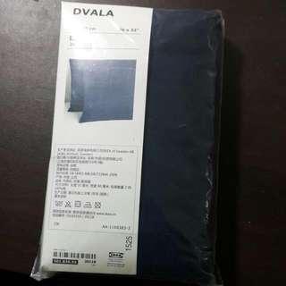 IKEA枕頭套 深藍色 2件裝