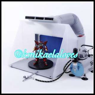 PREORDER: Portable Ventilation Hobby Airbrush Paint Spray Booth Kit Exhaust Filter Extractor Set Model