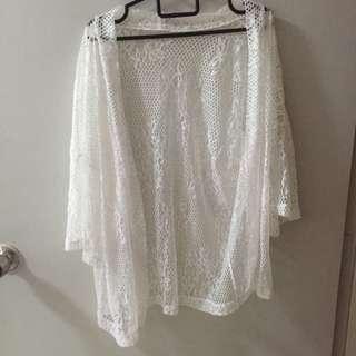 White Crochet Outerwear