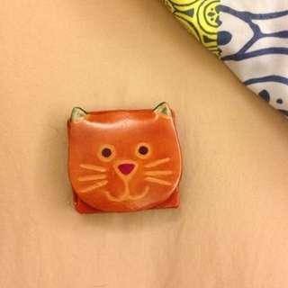 全新。貓咪零錢包