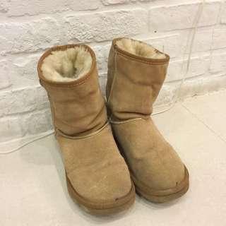 雪靴 咖啡色