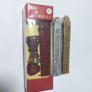 New Seal & Wax Kit - Letter L