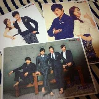 韓劇 紳士的品格 劇照明信片 張東健 金荷娜