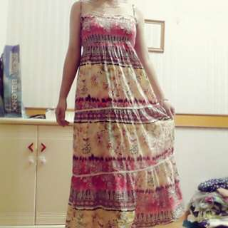 波希米亞風格連身裙