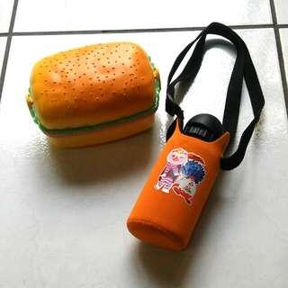 兒童冷水壺+可愛漢堡餐盒