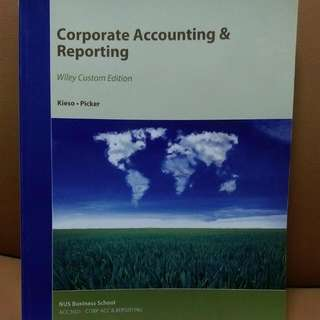 Acc3601 Corporate Accounting & Reporting