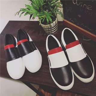 1114預購 平跟平底女單鞋拼色休閒運動鞋