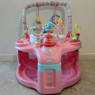 Baby Activity station. Walker like, but not move.  The Bright Starts - Entertain & Grow Saucer