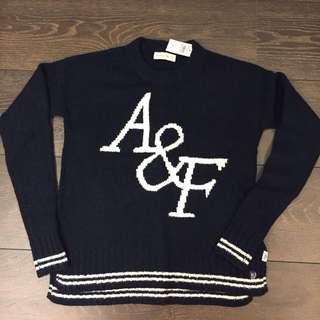 A&F 深藍色毛衣 經典款 xs號一件+Jo Malone