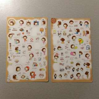 🔅免運🔅 韓國 捲髮女孩生活小趣事 可愛貼紙