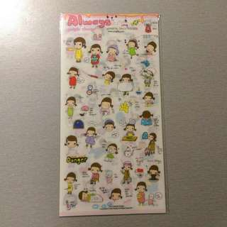 🔅免運🔅 韓國 小辮子女孩生活趣事 可愛貼紙