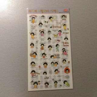 🔅免運🔅 韓國 塗鴉少女的生活記事 可愛貼紙