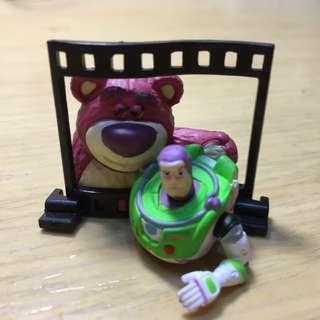 底片場景扭蛋 迪士尼 熊抱哥 巴斯光年💕 玩具總動員