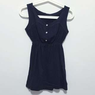 Navy Blue Sweet Top