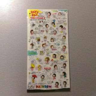 🔅免運🔅 韓國 妹妹頭女孩的生活趣事 可愛貼紙
