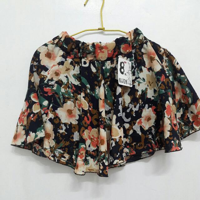 【全新】花圖短裙
