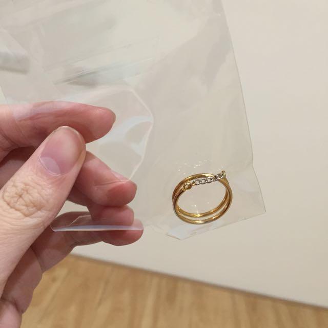 全新✨韓版鏈子金戒指💍