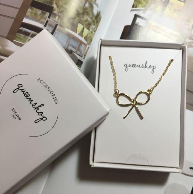 金色蝴蝶結項鍊