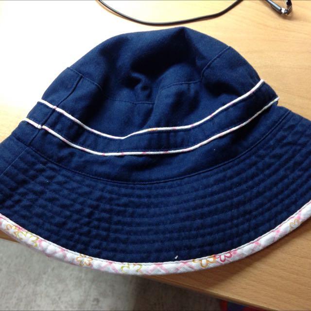 藍色漁夫帽古著