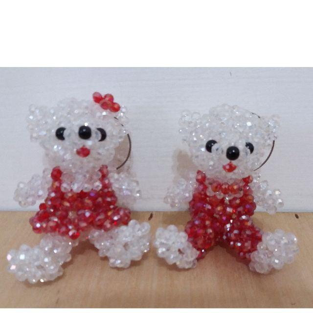水晶熊熊 一對 100 玩具